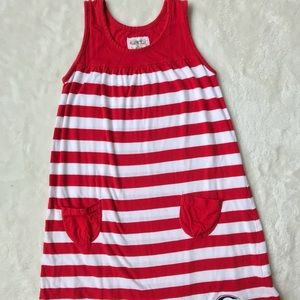 GARB Dresses - Red and White Stripped University of Georgia Dress